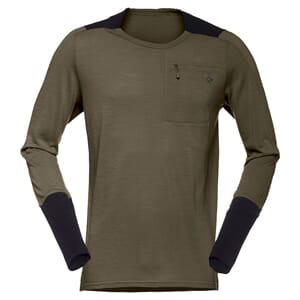 Norrøna Skibotn Wool Equaliser Long Sleeve Herre Dark Olive