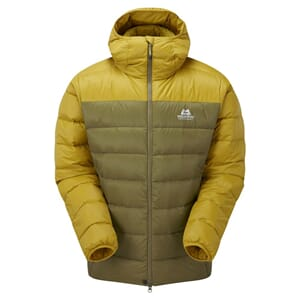 Mountain Equipment Skyline Hooded Dunjakke Fir Green/Acid