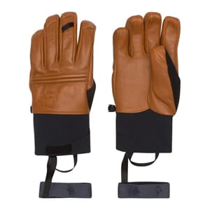 Norrøna Røldal Dri PrimaLoft Short leather Gloves Brown