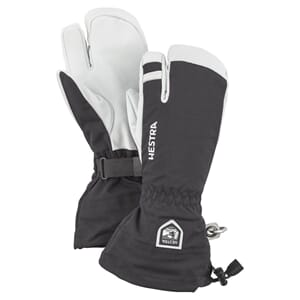 Hestra Army Leather Heli Ski 3 Finger Svart
