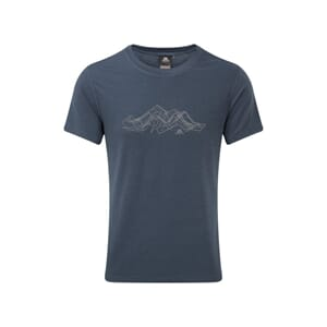 Mountain Equipment Groundup Mountain Tee T-Skjorte Denim Blu