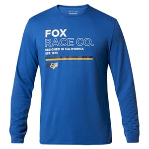 Fox Analog LS Tech T-skjorte Royal Blue