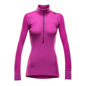 Devold Wool Mesh Woman Half Zip Neck Fuchsia