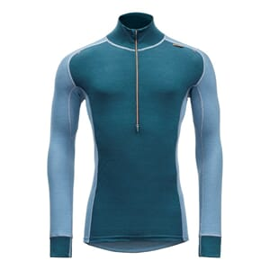 Devold Wool Mesh Man Half Zip Neck Glacier