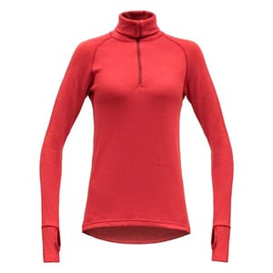 Devold Expedition Woman Zip Neck Chilli