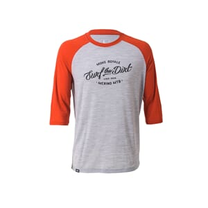 Mons Royale Redwood Raglan T Dirt Burnt Orange Grey Marl