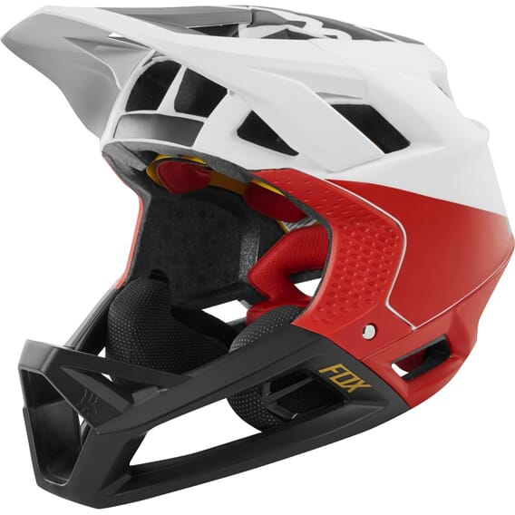 Fox Proframe Helmet Pistol White/Black/Red