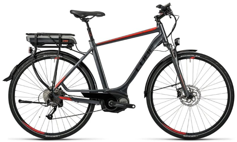 730000 Cube Touring Hybrid 400 Grey'n'red 2016 El-sykkel