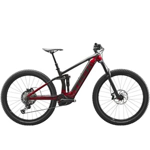 Trek Rail 7 Fulldempet Elsykkel 2021 Black/Rage Red