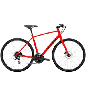Trek FX 2 Disc 2020 Hybridsykkel Radioactive Red