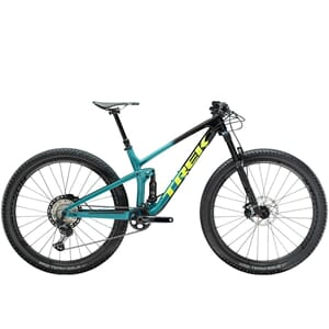 Trek Top Fuel 9.8 XT Rittfulldemper Black/Teal Fade